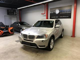 Used 2013 BMW X3 28i, AWD, GPS, TOIT OUVRANT, INT. EN CUI for sale in Montréal, QC
