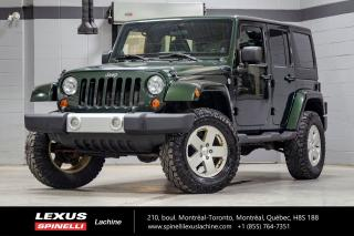 Used 2011 Jeep Wrangler SAHARA 4X4; MANUELLE A/C 2 TOITS MAGS MANUELLE 6 VITESSES - TRAIL RATED - TOIT DUR / TOIT MOU - CLIMATISATION for sale in Lachine, QC
