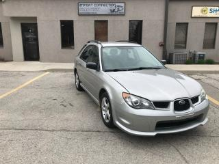 Used 2006 Subaru Impreza WAGON,CERTIFIED,NO ACCIDENTS ,LOW MILEAGE ! for sale in Burlington, ON