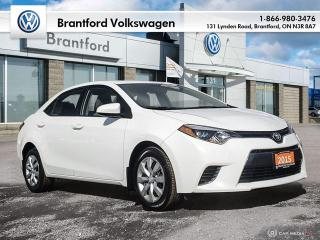 Used 2015 Toyota Corolla 4-door Sedan LE CVTi-S for sale in Brantford, ON