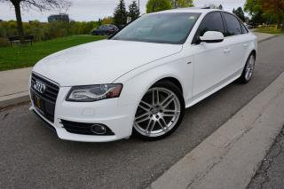 Used 2012 Audi A4 S-LINE / PREMIUM PLUS / LOADED / CLEAN HISTORY for sale in Etobicoke, ON