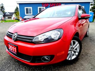 Used 2011 Volkswagen Golf Highline TDI DSG Navigation Leather Sunroof Bluetooth Certified for sale in Guelph, ON