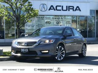 Used 2013 Honda Accord Sedan L4 Sport CVT Fog Lights, Heated Seats, Backup Cam for sale in Markham, ON