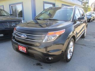 Used 2015 Ford Explorer LOADED LIMITED EDITION 7 PASSENGER 3.5L - V6.. 4WD.. BENCH & 3RD ROW.. LEATHER.. NAVIGATION.. DUAL SUNROOF.. DUAL DVD PLAYER.. HEATED/AC SEATS.. for sale in Bradford, ON