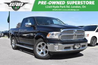 Used 2015 RAM 1500 Laramie - One Owner, Sunroof, Heated Steering for sale in London, ON