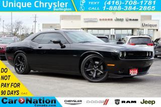 Used 2016 Dodge Challenger R/T| SHAKER| LEATHER| SUNROOF| BLINDSPOT MONITOR for sale in Burlington, ON