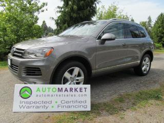 Used 2012 Volkswagen Touareg EXECLINE, NAVI, INSP, BCAA MBSHP, WARR, FINANCE for sale in Surrey, BC