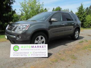 Used 2011 GMC Acadia SLE-2 AWD 8 PASS. FREE BCAA MBSHP & WRNTY & WE FINANCE! for sale in Langley, BC