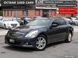 Used 2011 Infiniti G25X Luxury Accident-Free! Service Records! for sale in Scarborough, ON