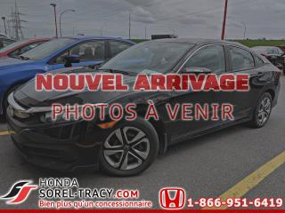 Used 2016 Honda Civic 4 portes, boîte manuelle, LX for sale in Sorel-Tracy, QC