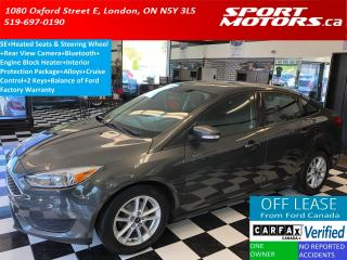 Used 2015 Ford Focus SE+Heated Seats & Steering+Camera+Bluetooth+A/C for sale in London, ON