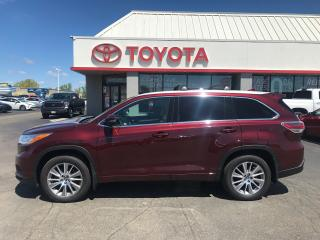 Used 2016 Toyota Highlander XLE LEATHER NAVIGATION 7 passenger Alloys for sale in Cambridge, ON