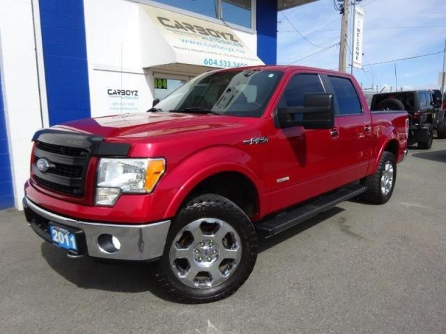 2011 Ford F-150 Lariat 4x4, Crew, Nav, Sunroof, Leather, Max Tow