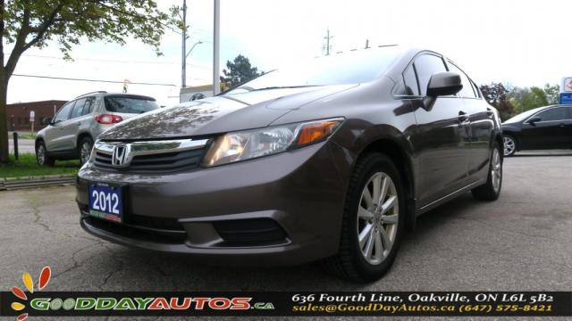 2012 Honda Civic EX|NO ACCIDENT|SUNROOF|ALLOYS|CERTIFIED