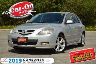 Used 2007 Mazda MAZDA3 Sport GT HATCH LEATHER SUNROOF A/C HTD SEATS ALLOYS for sale in Ottawa, ON