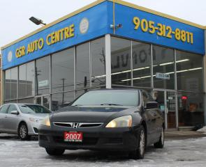 Used 2007 Honda Accord EX Sedan AT | HEATED SIDE MIRRORS | KEYLESS ENTRY | POWER WINDOWS | POWER DOOR LOCKS for sale in Hamilton, ON