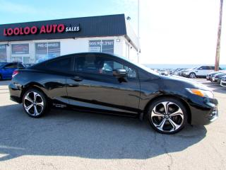 Used 2015 Honda Civic Si Coupe 6-Speed Navigation Camera Certified 2YR W for sale in Milton, ON