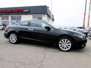 Used 2008 Honda Accord EX-L V-6 Coupe Automatic Leather Certified 2YR Warrant for sale in Milton, ON