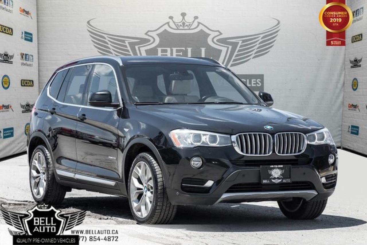 2016 BMW X3 xDrive28i, AWD, NAVI, BACK-UP CAM, PANO ROOF, SENSORS, PUSH START