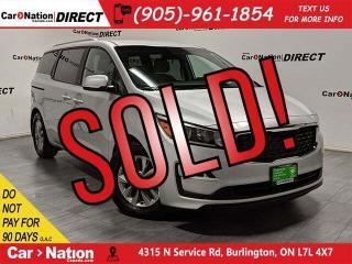 Used 2019 Kia Sedona LX| BACK UP CAM| APPLE CARPLAY & ANDROID AUTO| for sale in Burlington, ON