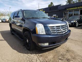 Used 2008 Cadillac Escalade ESV-AWD-8 PASSENGER-DVD-NAVI-LOW MONTHLY PAYMENTS! for sale in Edmonton, AB