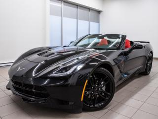 Used 2019 Chevrolet Corvette GT STINGRAY *CONVERTIBLE* BOSE *CUIR ROUGE* PROMO for sale in St-Jérôme, QC
