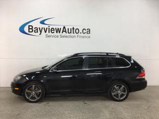 Used 2014 Volkswagen Golf 2.0 TDI Wolfsburg Edition - PANOROOF! LOW KMS! AUTO! HTD LEATHER! for sale in Belleville, ON