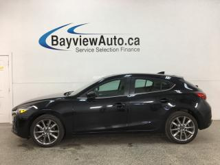 Used 2018 Mazda MAZDA3 GT - AUTO! HTD LEATHER! PADDLE SHIFTERS! SUNROOF! + MORE! for sale in Belleville, ON