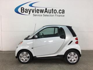 Used 2015 Smart fortwo Pure - 3200KMS! AUTO! A/C! HTD LEATHER! & MORE! for sale in Belleville, ON