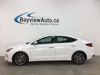 Used 2019 Hyundai Elantra Luxury - AUTO! HTD LEATHER! SUNROOF! ALLOYS! + MORE! for sale in Belleville, ON
