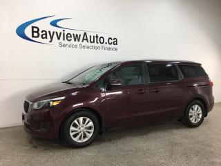 Used 2016 Kia Sedona LX - HTD SEATS! BLUETOOTH! REVERSE CAM! PWR SLIDING DOORS! + MORE! for sale in Belleville, ON