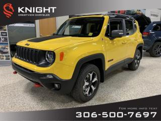 New 2019 Jeep Renegade Trailhawk 4x4   Heated Seats and Steering Wheel   Sunroof   Navigation for sale in Regina, SK