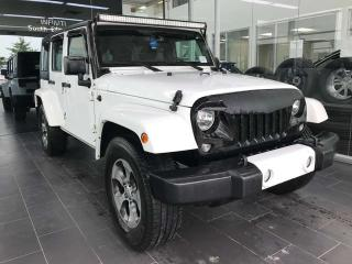 Used 2016 Jeep Wrangler Unlimited SAHARA, ACCIDENT FREE, BODY KIT OPTIONS, CRUISE CONTROL, BLUETOOTH for sale in Edmonton, AB
