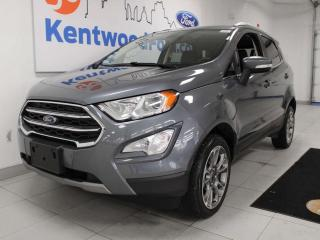 Used 2018 Ford EcoSport Titanium 4WD, NAV, sunroof, heated power leather seats, back up cam for sale in Edmonton, AB