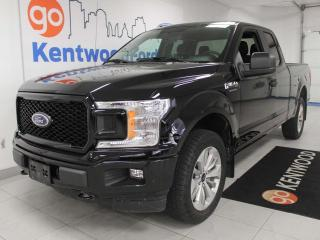 Used 2018 Ford F-150 STX 4x4 ecoboost with a back up cam and black on black for sale in Edmonton, AB