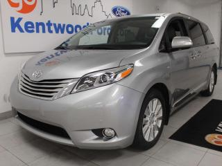 Used 2017 Toyota Sienna XLE AWD, NAV, sunroof, heated power leather seats, DVD entertainment, power sliding doors and power liftgate for sale in Edmonton, AB