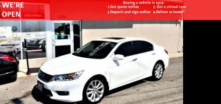 Used 2015 Honda Accord Touring V6|VIDEO.CALL.US| SUNROOF|REARVIEW|NAVI|LEATHER for sale in Mississauga, ON