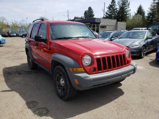 Used 2005 Jeep Liberty SPORT-4X4-LOW KM-LOW Monthly PAYMENTS!! for sale in Edmonton, AB
