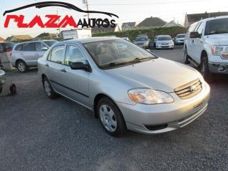 Used 2003 Toyota Corolla CE for sale in Beauport, QC