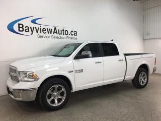 Used 2018 RAM 1500 Laramie - 8SPD AUTO! 4X4! HEMI! HTD FRONT & REAR LTHR! ROOF! RAM BOX! for sale in Belleville, ON