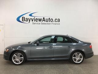 Used 2015 Audi A4 2.0T Technik - QUATTRO! LOW KMS! NAV! HTD LEATHER! + MORE! for sale in Belleville, ON