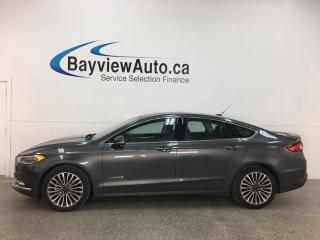 Used 2018 Ford Fusion Hybrid Titanium - HTD/COOLED LTHR! MOONROOF! NAV! for sale in Belleville, ON