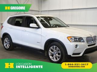 Used 2012 BMW X3 XDRIVE 28I CAMÉRA-TOIT for sale in St-Léonard, QC