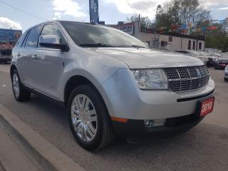 Used 2010 Lincoln MKX Extra clean-Leather-Navi-SunMoonRoof-Alloy-aux-usb for sale in Scarborough, ON