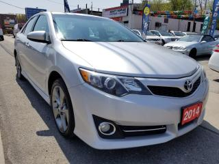 Used 2014 Toyota Camry SE-Mint-Navi-Bk up cam-Eco-Sunroof-Aux-Usb-Bsm for sale in Scarborough, ON