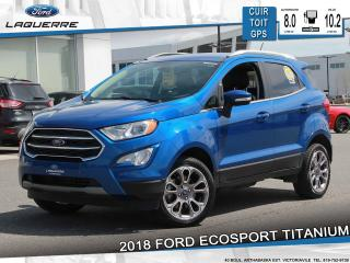 Used 2018 Ford EcoSport Titanium Awd Cuir for sale in Victoriaville, QC