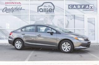 Used 2012 Honda Civic LX ***GARANTIE 10 ANS/200 000 KM*** for sale in Québec, QC
