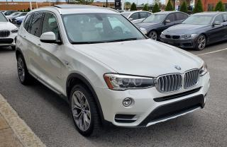 Used 2015 BMW X3 Xdrive35i White On for sale in Dorval, QC