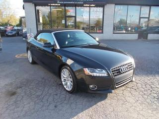Used 2010 Audi A5 CONVERTIBLE 2.0T PREMIUM QUATTRO for sale in St-Hubert, QC