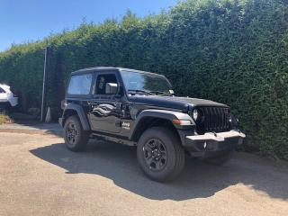 New 2019 Jeep Wrangler Sport 4WD + 6 SPEED MANUAL + BLUETOOTH + NO EXTRA DEALER FEES for sale in Surrey, BC